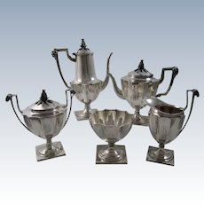 1877 Tiffany Sterling Silver 5 pcs. Coffee, Tea Service