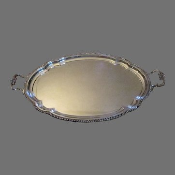 "Gorham Sterling Silver ""Georgian"" Service Tray"