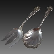 "Sterling Silver Serving Set ""Lily"" Pattern"