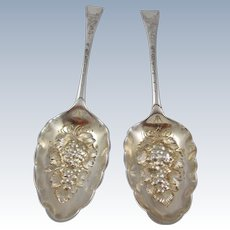 George lll English Sterling Silver Fruit Spoons