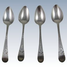 George III Sterling Silver Coffee Spoons By The Bateman Family