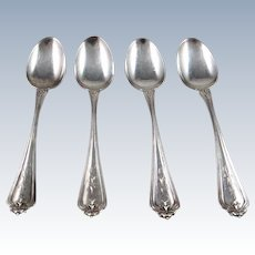 "4 Whiting Sterling Silver ""Duchess"" Demitasse Spoons"