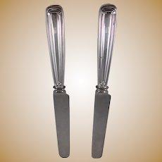 Two Tiffany Sterling Silver Saint Dunstan Knives