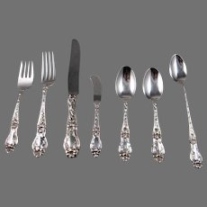 "Frank M. Whiting  7 Piece Sterling Silver ""Lily"" Place Setting"