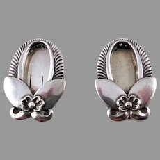 "Georg Jensen ""Cactus"" Sterling Silver #227 Dress Clips"