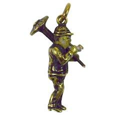 Gold Chimney Sweep Charm