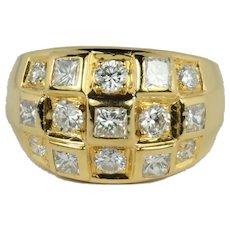 Princess Cut Diamond 18K Gold Ring