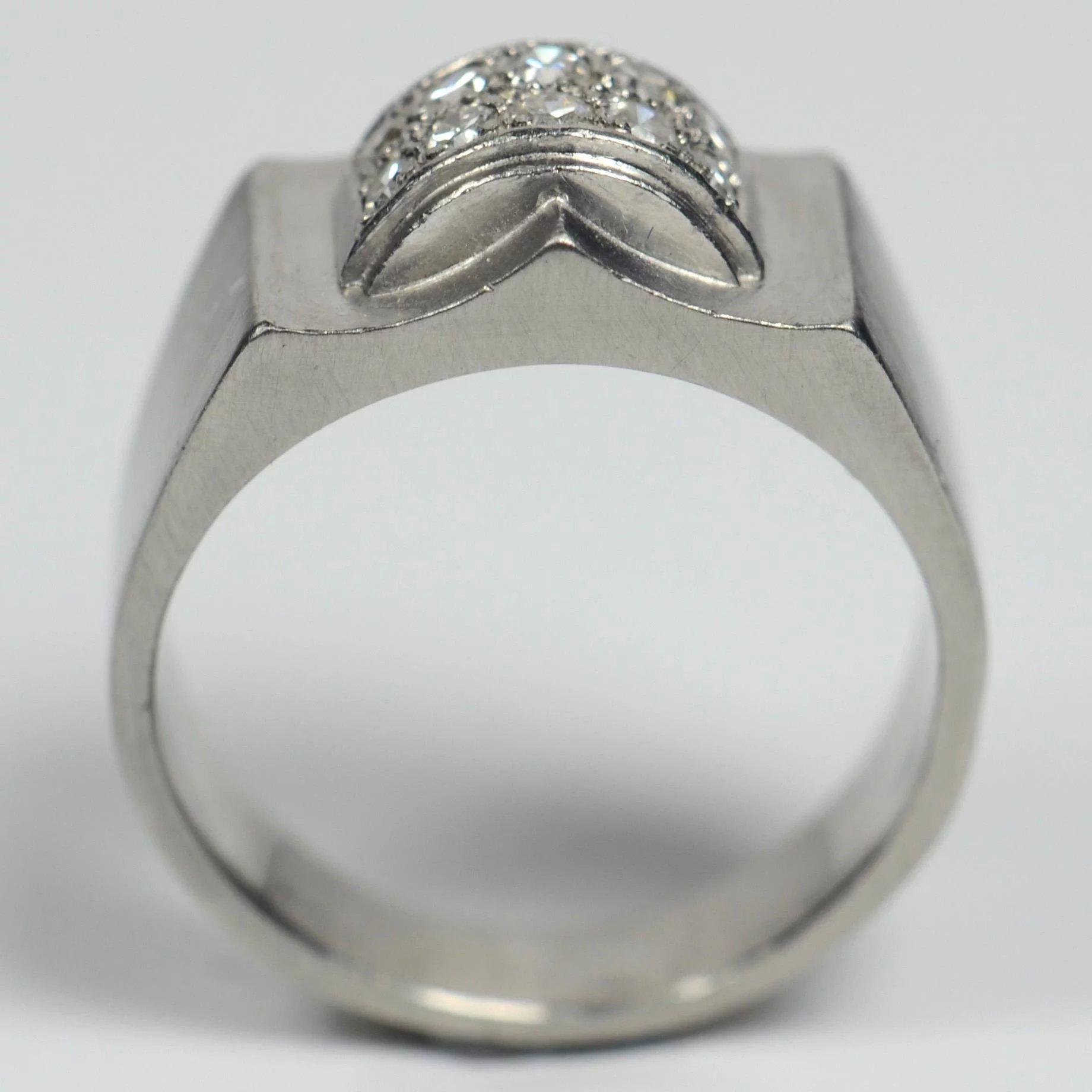 platinum modernist diamond mccaul white contemporary cut engagement and pear fine jewellery modern goldsmiths rings ring