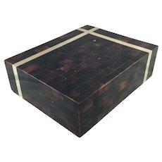 Maitland Smith Faux Tortoiseshell and Brass Box c.1980