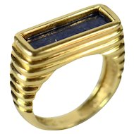Tiffany lapis and 18 karat gold ring c. 1970