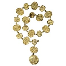 Cartier Vermeil Gold Plated Silver Belt Necklace, circa 1970