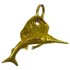 Gold Sailfish Charm