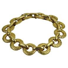 Georges L'Enfant French Yellow Gold Link Bracelet