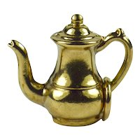 9K Rose Gold Coffee Pot Charm Pendant
