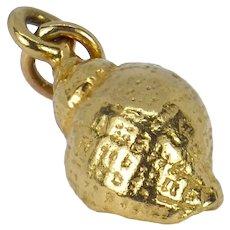 14K Yellow Gold Whelk Shell Charm Pendant