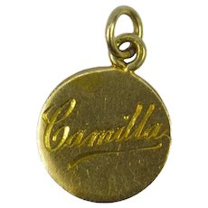 9K Rose Gold Camilla Disc Charm Pendant