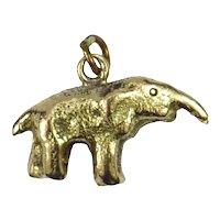 9K Yellow Gold Elephant Charm Pendant