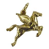 9K Yellow Gold Pegasus Charm Pendant