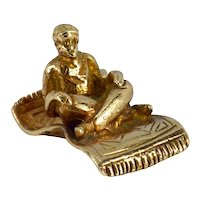 9K Yellow Gold Magic Carpet Genie Charm Pendant