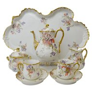 Fine antique porcelain Limoges Cabaret / Tete-a-Tete Set. Martial Redon, 1891-96