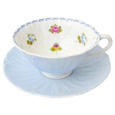 Vintage Shelley Oleander Blue Cup And Saucer, 1940-66