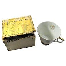 Vintage Japanese Gilt-Edged Fortune Telling Teacup