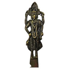 1950s Raudixin Brass Letter Opener With Hindu God From India