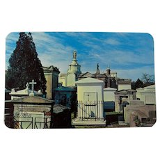 1940s New Orleans St. Louis Cemetery #1 Chrome Postcard