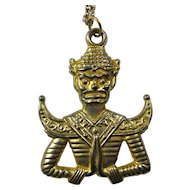 Vintage Thai Buddha Pendant Necklace