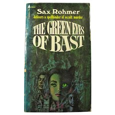 Vintage Pulp Paperback Book THE GREEN EYES OF BAST by Sax Rohmer