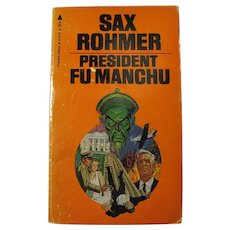 Vintage Pulp Paperback Book PRESIDENT FU MANCHU by Sax Rohmer