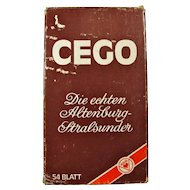 Vintage Cego German Tarot Card Game