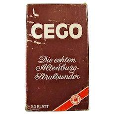 Vintage Cego German Tarot Card Game
