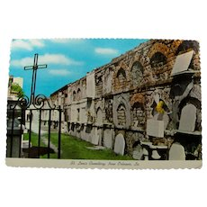 Vintage New Orleans St. Louis Cemetery Postcard Unused