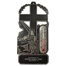 1960s Advertising Thermometer From Hoover Funeral Home