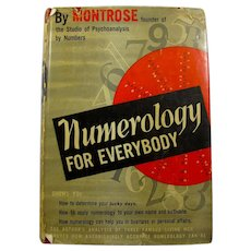 "SALE! 1940 ""Numerology For Everybody"" Hardcover Book Signed & Inscribed By Author"