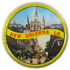 1960s New Orleans Souvenir Round Playing Cards