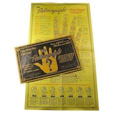 1936 Fortune Telling Palmistry Chart In Original Envelope