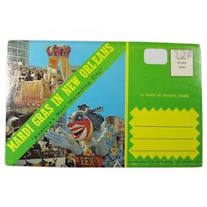 Vintage New Orleans Mardi Gras Souvenir Card Folder