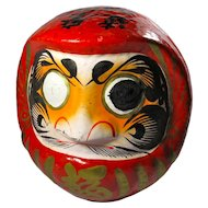 SALE! Large Vintage Red & Gold Daruma Doll From Japan