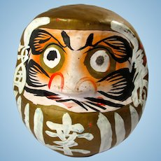 SALE! Vintage Gold & White Daruma Doll From Japan