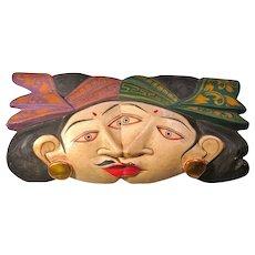 Vintage Balinese Rama & Sita Double Faced Mask