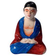 Vintage Hand-Painted Buddha Salt Shaker