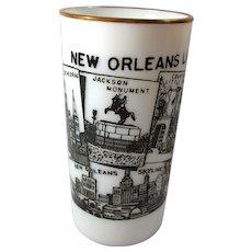 1950s New Orleans Milk Glass Tumbler by Hazel Atlas