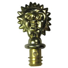 Vintage Metal Sun Wine Bottle Stopper