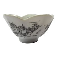 Vintage Porcelain Tulip Dish With San Francisco Landmarks