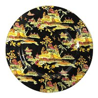 1951 Royal Winton Grimwades Black Pekin Dinner Plate