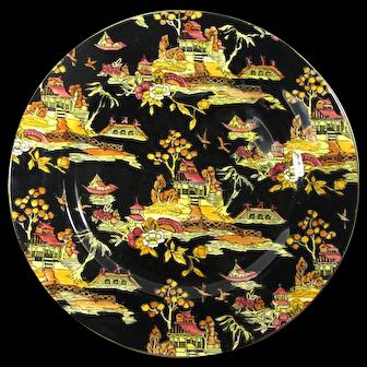 1951 Royal Winton Grimwades Black Pekin Dinner Plate