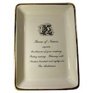 1981 New Orleans Mardi Gras Krewe of Nereus Porcelain Invitation Dish