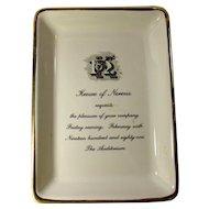 1981 New Orleans Mardi Gras Krewe of Nereus Porcelain Invitation Dish